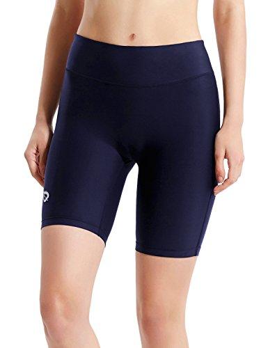 BALEAF Women's 7 Inches Active Fitness Yoga Running Shorts Pocket Navy Blue Size M