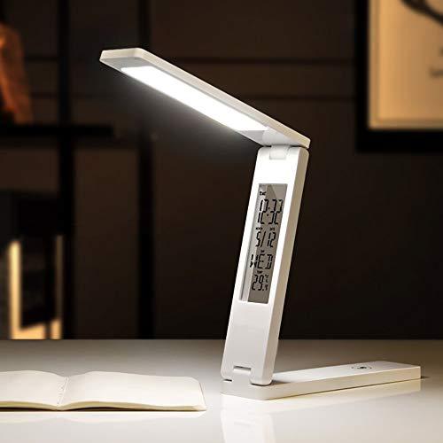 AnjaKD Touch Usb Lámpara de escritorio recargable LED creativa plegable aprendizaje lectura estudiante protección de ojos lámpara de escritorio 3 x 4,5 x 18 cm
