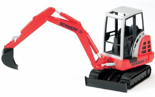 Bruder Schaeff Mini Excavator HR 16 1:16 Scale Farm and Construction Indoor and Outdoor Pretend Play Toy