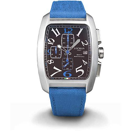 Locman Italy Herrenuhr Sport Anniversary Chrono blau/schwarz Ref. 0470