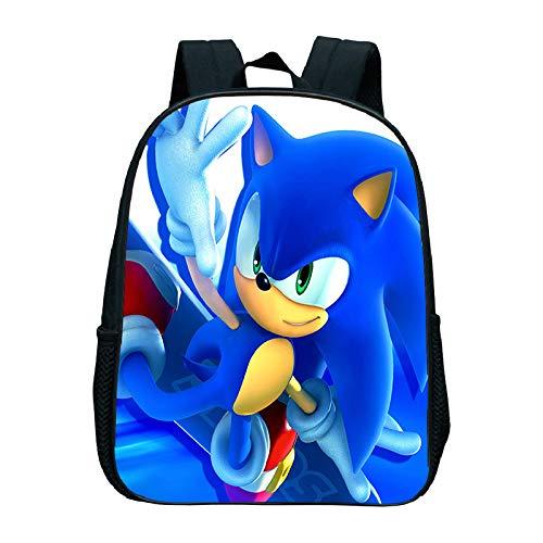 QIANMA Sonic Bolso Sonic The Hedgehog Mochila Escolar de Dibujos Animados para niños y niñas de jardín de Infantes Mochila Simple Amazon AliExpress Mochila para niños pequeños