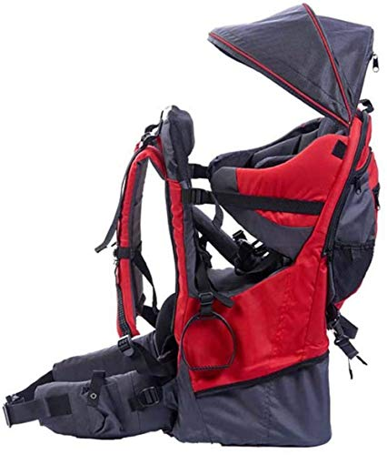 LG&S Sac à Dos Enfant en Bas âge Porteurs de bébé pour la randonnée Camping léger avec Housse de Pluie Pare-Soleil Pare-Soleil contenir jusqu'à 55 LB,Rouge