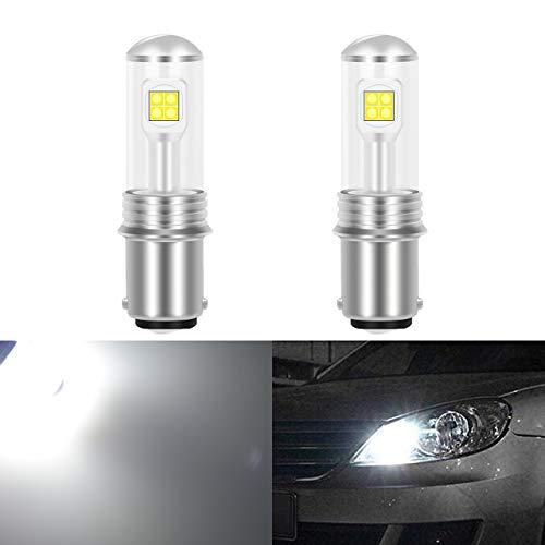KaTur 1500 Lumens Cree Chips 8smd 40 W CANBUS sans Erreur 9005 HB3 H10 9145 9140 LED Feux de Brouillard DRL Clignotants Ampoules Jour Running Light 12 V-24 V Blanc 6000 K étanche IP68 (2-Pack)