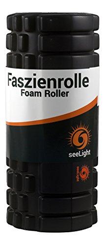 Rodillo de espuma • MYO • Foam Roller de seeLight, para masajear los puntos gatillo y las fascias, adecuado para el gimnasio y para Pilates y efectivo contra el dolor de espalda y cuello, para su uso antes y después de hacer ejercicio, garantía total