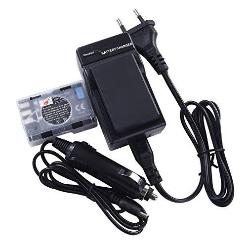 DSTE 2-Pieza Repuesto Batería y DC15E Viaje Cargador kit para Nikon EN-EL9EN-EL9a D40 D40X D60 D3000 D5000Digital Cámara
