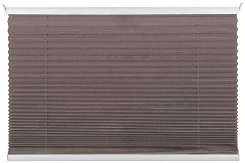 Nicht Zutreffend Plissee Rollo Sonnenschutz | Taupe | 75x130 cm | Polyester
