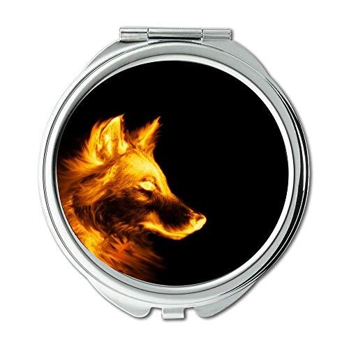Yanteng Spiegel, Compact Spiegel, Boston Terrier Hündchen lustig, Taschenspiegel, 1 X 2 X Vergrößerung