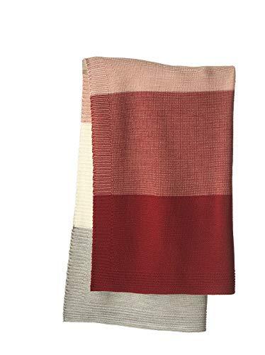 Disana Strick-Decke (bordeaux/rose)