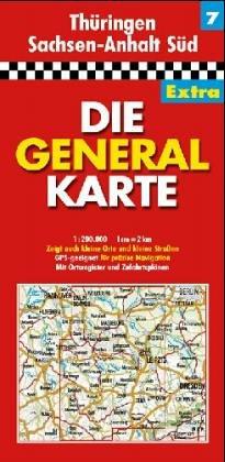 Die Generalkarten Deutschland Extra, 12 Bl., Bl.7, Thüringen, Sachsen-Anhalt Süd (Série Régionale)