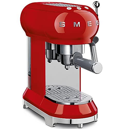 SMEG Macchina da caffè Espresso ECF01RDEU, 2 Cups, Rosso