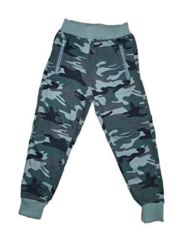 Generic Kinder Jungen Camouflage Freizeithose Tarnhose Jogginghose Sporthose für Kindergarten Schule Grün (128)