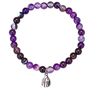 ♥Size:This bracelet is stretchy to accommodate most women's wrists. Bead:35 pcs 6mm amethyst beads. ♥Ladybug Charm:Ladybug is a cherisherd symbol of good luck and friendship.Amethyst bead is one of the ideal stone for meditation and its energy helps ...