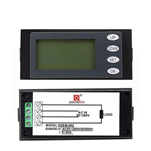 YIONGA CAIJINJIN Módulo módulo de Prueba, PZEM-002 20A CA 80-260V voltímetro Digital LCD Corriente Tensión medidor de energía KWH Panel probador de componentes