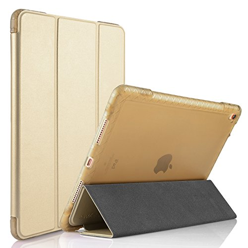 "iPad Pro 9.7 inch Case Cover, Swees Heavy Duty Shockproof Rugged Smart Case Full Body Shock Resistant Protective Cover with Auto Wake and Sleep Function for Apple iPad Pro 9.7"" Tablet 2016, Gold"