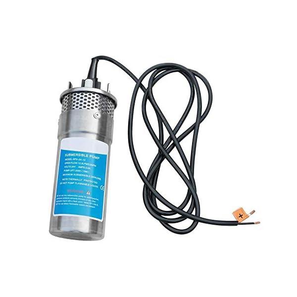 S SMAUTOP Bomba sumergible de acero inoxidable Bomba de pozo profundo ultra silenciosa para estanques, acuarios…