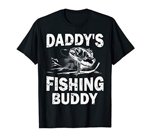 Kids Daddy's Fishing Buddy Young Fisherman Gift T-Shirt