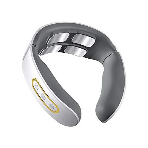 Instrumento de masaje inteligente de cuello multifuncional eléctrico profundo tejido inalámbrico masajeador blanco