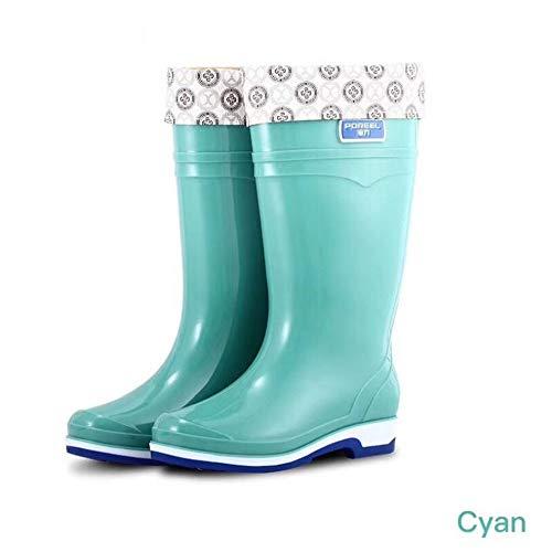HRFHLHY Non-slip peesbodem antislip regenlaarzen Vrouw regenlaarzen Regenlaarzen met hoge hakken