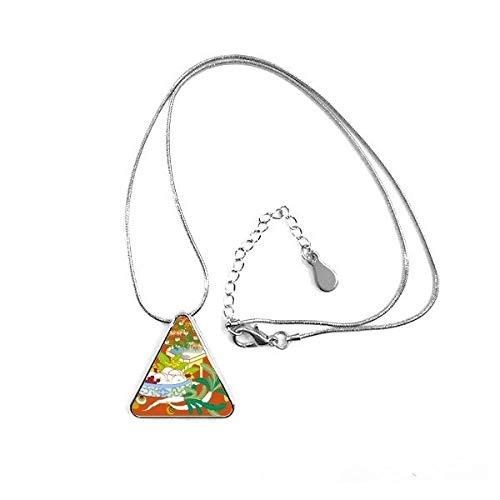 DIYthinker Colgante con Forma de triángulo de Hoja de Cultura Colorida, joyería con Cadena para decoración de Regalo