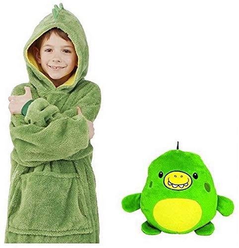 Awaiting Joy - Sudadera con capucha para mascotas, animales de peluche se convierten en sudadera con capucha de gran tamaño con bolsillo gigante, jersey de albornoz, almohada de pijama, talla única