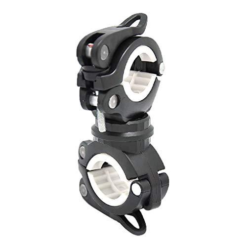 Patpan 360 Grados de rotación de luz Bici de Soporte Frontal LED Lámpara Linterna antorcha de Montaje del Manillar de Soporte de Pinzas