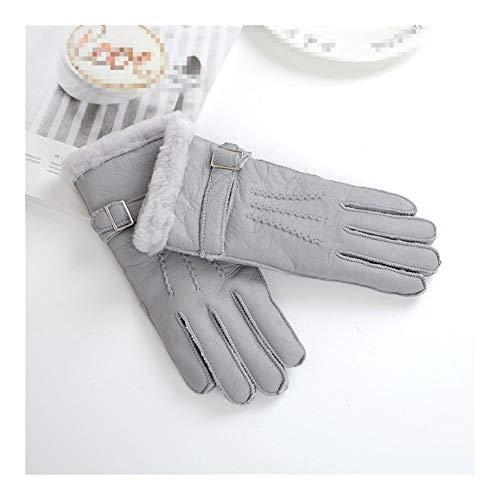 NOVAWO Frauen aus 100/% Cashmere Fingerdaumenloch Warm weiche Handschuhe