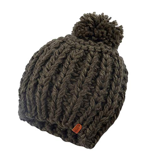 Homme Tricot isoler isoler Label Thermal Beanie Hiver Outdoor Chunky Hat