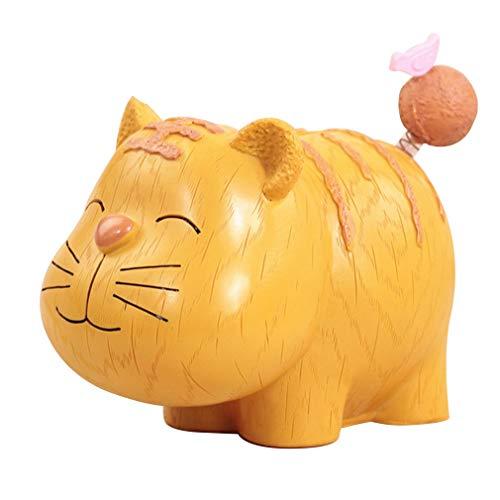 Hucha, Hucha De Dibujos Animados Ahorro De Suerte Resina Preciosa Linda Mascota Gran Espacio De Almacenamiento Decoración Tingting ( Color : Tiger , Size : 11*18.5*16cm )