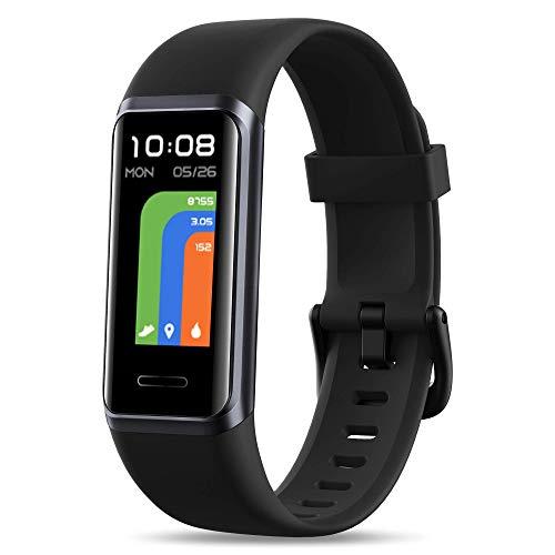 FKANT Pulsera Actividad Inteligente con Alexa ,Táctil Completa Reloj Inteligente para Hombre Mujer Niño Impermeable 5ATM Smartwatch con Monitor de Sueño Caloría Oxigenación Sangre Pulsómetro Podómetro