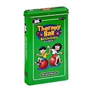 Super Duper Publications | Therapy Ball Activities Fun Deck | Upper Body and Core Strength Flash Cards | Educational Learning Materials for Children