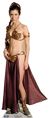 Pappaufsteller Prinzessin Leia a J Slave - Star Wars Standup Figur Kinoaufsteller Pappfigur Cardboard Lebensgroß Life-Size Standup