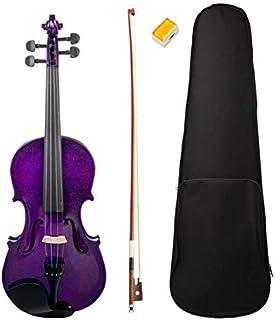 Purple Violin 4 / 4 size Violin in Full Set (Bow, Rosin and Case)