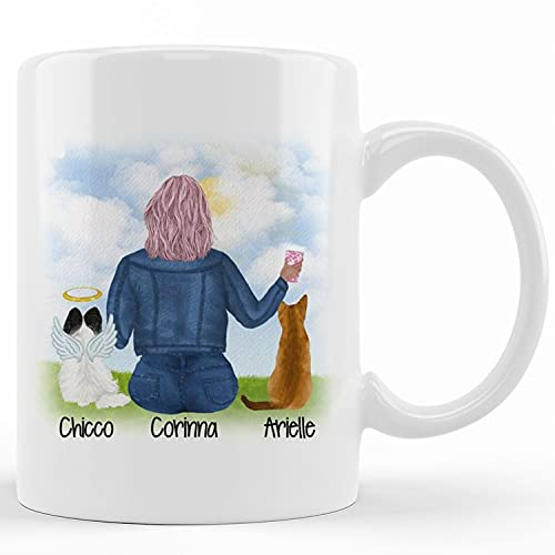 Personalized Custom Pet Remembrance Gift Pet Remembrance Coffee Mug Pet Loss Gift Pet Sympathy Gift – Personalized Dog Loss Gift Cat Memorial Gift, Ceramic Novelty Coffee Mug, Tea Cup, Gift Present F