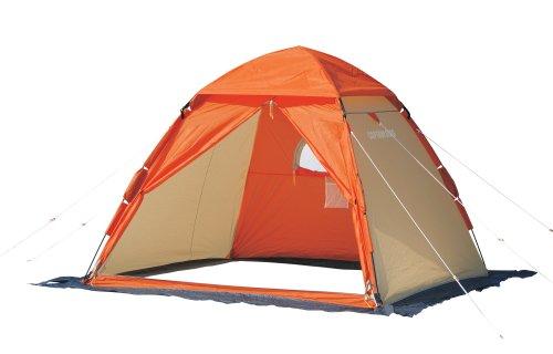 キャプテンスタッグ 釣り ワカサギ釣り ワンタッチ テント 210 オレンジM-3131