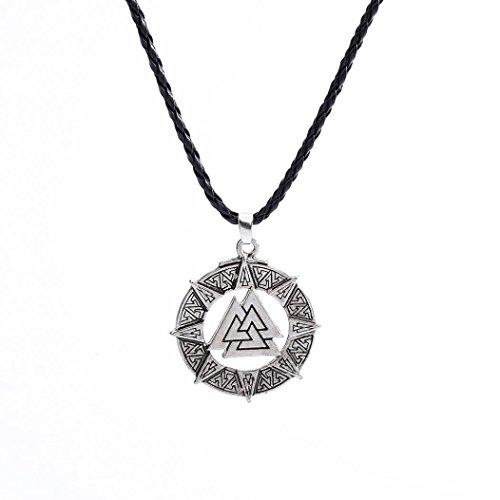 IEason Slavic Norway Valknut Pagoda Amulet Pendant Men Necklace Jewelry Warrior Symbol