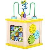 Actividad Juguetes del Cubo Toy Intelectual Puzzle rebordeó los Juguetes de Madera del bebé educación temprana Hexaedro Juguetes educativos, Regalos for niños y niñas 1-12 para los niños pequeños
