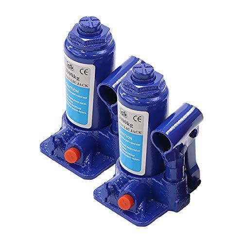選べる2カラー 油圧式 ボトルジャッキ 定格荷重約2t 約2.0t 約2000kg 2台セット 2個 油圧ジャッキ だるまジャッキ ダルマジャッキ ジャッキ 手動 安全弁付き ジャッキアップ タイヤ交換 工具 小型 軽量 車載用 車 整備 修理 メンテナン