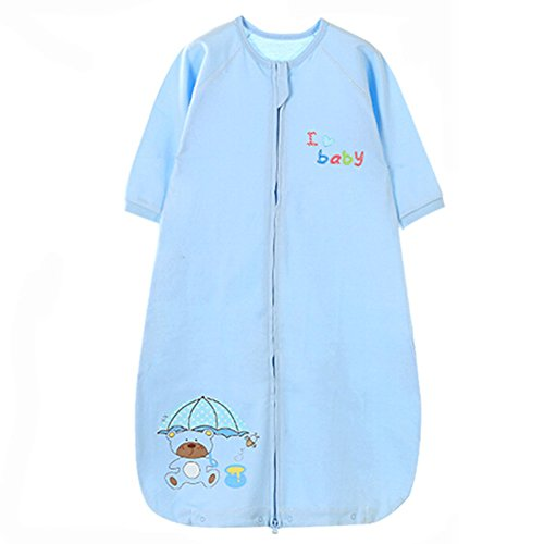 Summer Spring Baby Sleeping Bag Coton, 0-5Yrs, Bleu, Large