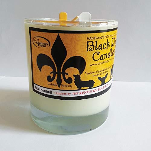 Black Dog Candles Candle Glass Tumbler Bourbonball 9Oz, 1 EA