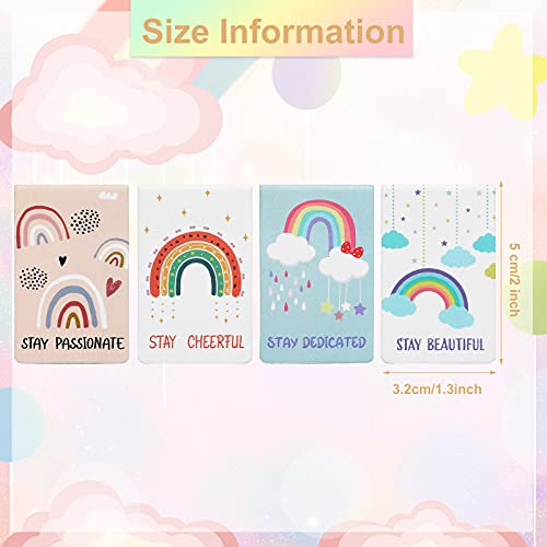 12 Pieces Rainbow Magnetic Bookmark Inspirational Magnetic Bookmarks Magnet Page Markers Positive Magnetic Book Marker for Students Teachers School Home Office Supplies, 12 Styles Photo #2