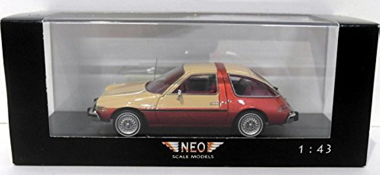 orden ahora disfrutar de gran descuento AMC Pacer, beige rojo metálico , , , 1975, Modelo de Auto, modello completo, Neo 1 43  barato