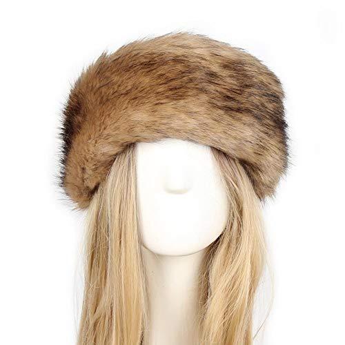 SOROPTLE Winter Dikke ry Haarband Fluffy Faux Vrouwen Hoofdband Hoed Winter Outdoor Earwarmer Ski Hoeden