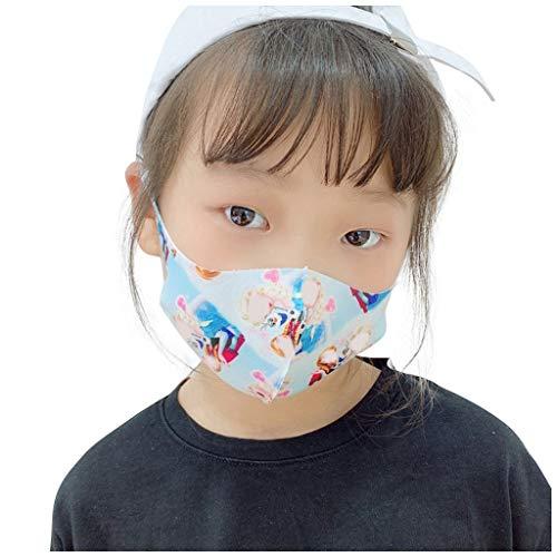 GUNGUN 3D Mascarillas Infantiles Lavables Reutilizables 3 Capas Algodón Doble Ajuste elástico máscaras antipolvo de partículas efectivamente aisladas y contaminación del aire