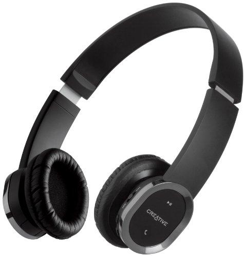 Creative Labs WP-450 - Auriculares de diadema abiertos Bluetooth (Inalámbrico, con micrófono, 10...