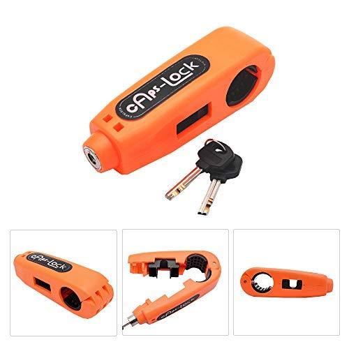 Maso - Candado antirrobo de freno para manillar de motocicleta o moto, motocicleta o motocicleta (naranja)