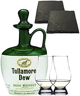 Tullamore Dew im Tonkrug 0,7 Liter  2 Glencairn Gläser  2 Schiefer Glasuntersetzer 9,5 cm
