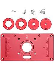 Sunshin Multifunctionele freestafel, aluminiumlegering, inzetplaat, houtbewerkingsbanken, 235 x 120 x 8 mm, timmermanssnijmachine, flip-chip board