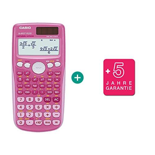Casio Calculadora FX 85 GT Plus rosa + Extensión de la garantía hasta 60 meses