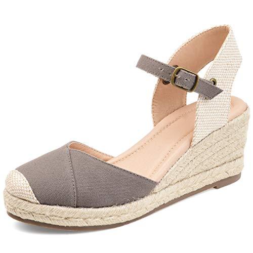 LAICIGO Platform Wedges Sandals for Women, 2