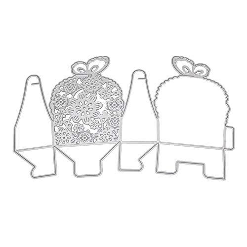 Xmiral Stanzmaschine Schablonen Stanzformen Stanzen Schablonen,3D Geschenkbox Blumenkugel(H)